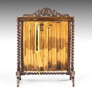 A Very Good Quality Mid 19th Century Walnut Fire Screen