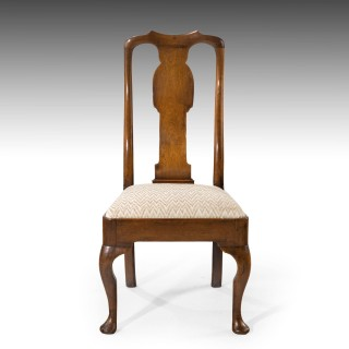 A Very Good Set of Four Queen Anne Period Walnut Dining Chairs