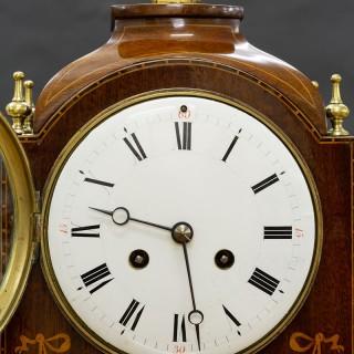 Edwardian French Mahogany Mantel Clock by Samuel Marti, Paris