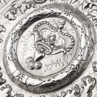 A Portuguese Silver salver c.1700