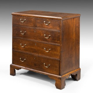A Well Proportioned Mid - 18th Century Oak Chest of Drawers