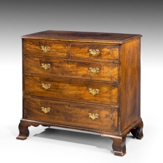 A Very Finely Figured George III Period Mahogany Chest of Drawers