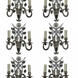 A SET OF SIX BAGUES STYLE SCONCES
