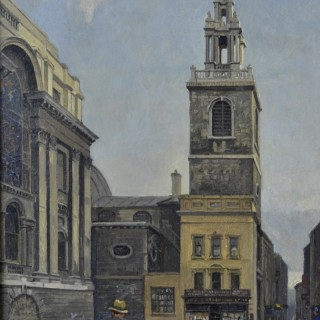 Rex Vicat Cole - St Stephen Walbrook - oil on panel