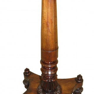 English Regency Mahogany Oblong Occasional Lamp Table