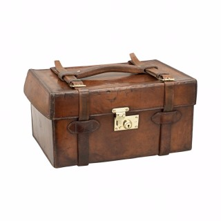 Leather Farlow Fishing Tackle Case With Tray