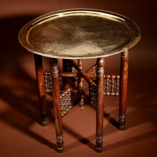 A Very Decorative Moorish Folding Coffee Table. Circa 1900-20