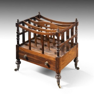 A Good Late George III Period Rosewood Canterbury