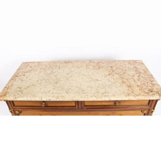 Antique Napoleon III Parisian Commode Chest Marble Top c.1870 19th C