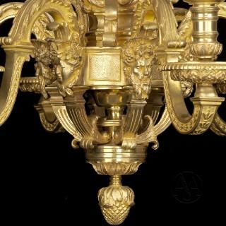 Louis XIV Style Gilt-Bronze Six-Light Chandelier