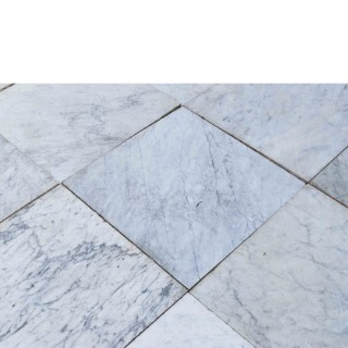 Reclaimed Antique Carrara Marble Floor Tiles 32.8 M2