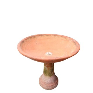 Reclaimed Terracotta Fountain Bowl / Bird Bath