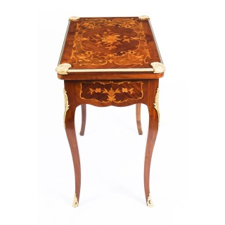 Antique French Louis XV Revival Ormolu Marquetry Card Games Table C1880