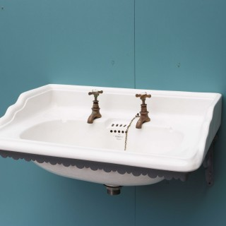 Antique 'vandus' Wall Mounted Sink / Basin