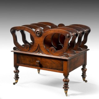 A Late Regency Period Mahogany Canterbury