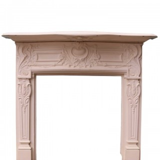 Antique English Cast Iron Fireplace Surround
