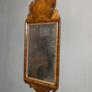 Antique Walnut Mirror Late 17th Century
