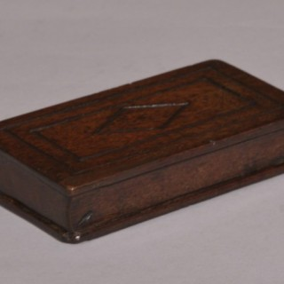 Antique Treen 19th Century Solid Mahogany Book
