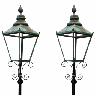 Pair Of Antique Reclaimed Lamp Posts