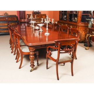 Antique 10ft William IV Mahogany Extending Dining Table C1840 19th C