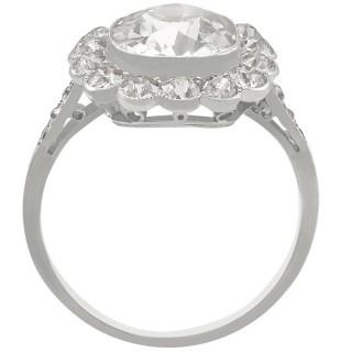 4.47 ct Diamond and Platinum Cluster Ring - Antique Circa 1910