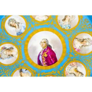 Antique 20inch diam Sevres Porcelain Charger of Louis XVI 18th C