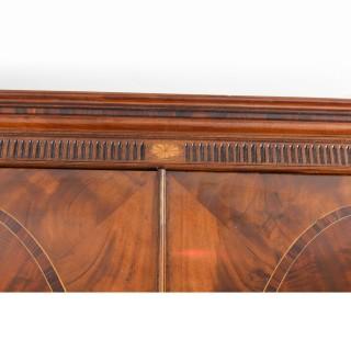 Antique George III Flame Mahogany Breakfront Wardrobe Compactum C1780 18th C
