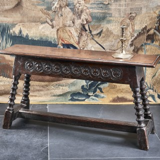 Charles I oak carved bench