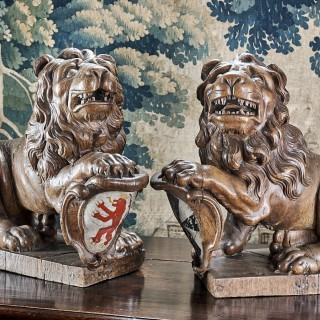 Early 17th century heraldic lions