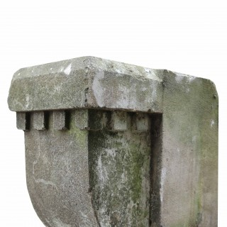 Set Of 10 Antique Limestone Corbels