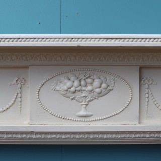 English Painted Pine And Composition Fire Surround