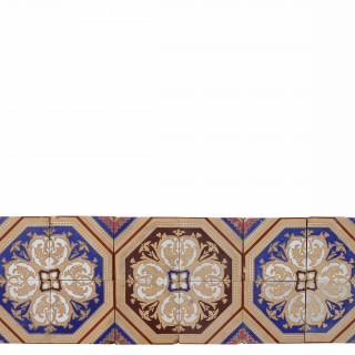 Set Of 12 Antique Minton & Co. Encaustic Tiles