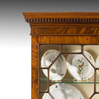 A Highly Figured George III Period Mahogany China Cabinet