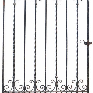 Reclaimed Arched Wrought Iron Garden Gate