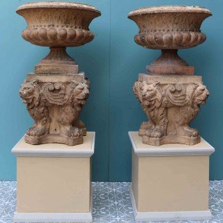 Pair Of ' Doulton & Co ' Terracotta Urns