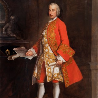 Grand 18th Century Portrait of Augustus Townshend