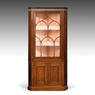 A Good George III Period Mahogany Double Corner Cupboard.