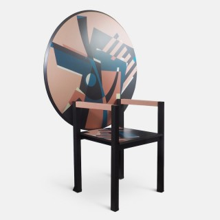 Alessandro Mendini Signed 'Zabro' Metamorphic Chair-Table for Zanotta 1984