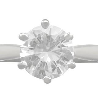2 ct Diamond and Platinum Solitaire Ring - Vintage 1973