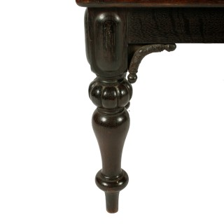 Victorian Oak Window Seat