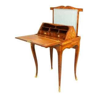 18th Century French Louis XV Marquetry Mechanical Table,