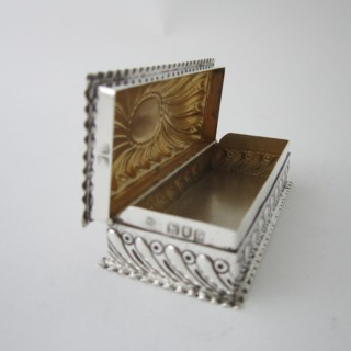 Antique Victorian Sterling silver trinket box