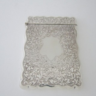 Antique Edwardian Sterling silver visiting card case