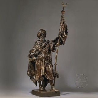 Multi-Patinated Bronze Figure of an Arab Warrior