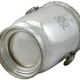 French Silver Wine Cooler - Antique Circa 1910