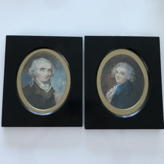 Two Very very Large Portrait Miniatures