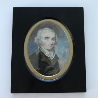 Two Very Large Portrait Miniatures