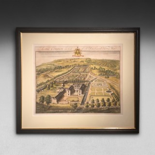 Early 18th. Century JohannesKip Engraving of Little Compton.