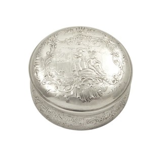 Antique Victorian Sterling Silver Trinket Box / Vanity Pot 1900