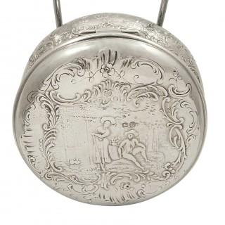 Antique Victorian Sterling Silver Trinket Box / Vanity Pot 1900
